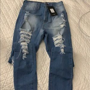 Distressed Fashion Nova Jeans
